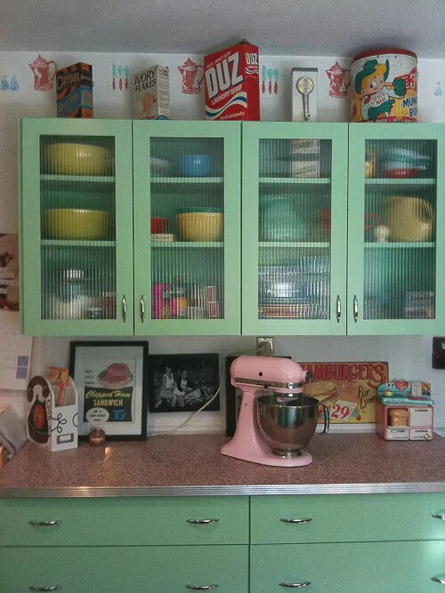 Vintage Green Kitchen Cabinets 6 Ideas From Karen's Retro Kitchen Remodel - Including