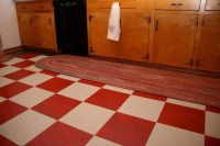 Red and white checkerboard floor - where to find it ...