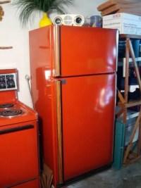Rare poppy red stove and refrigerator - original colors ...