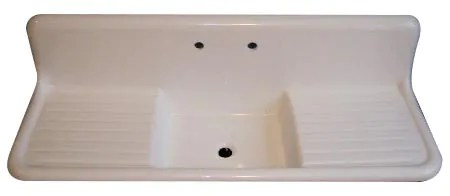 Double Farmhouse Sink With Drainboard Zef Jam
