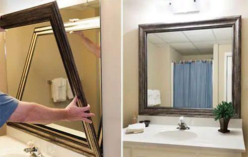 Bathroom mirror frames 2 easy to install sources a diy