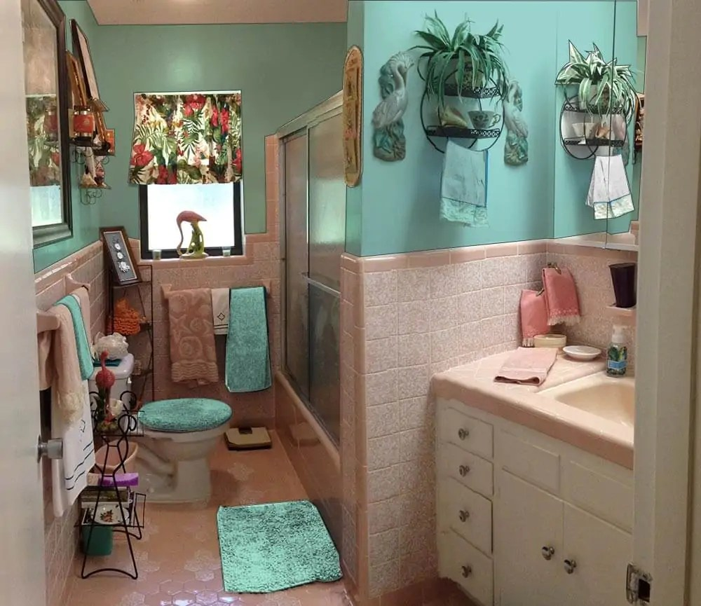 Retro Design Dilemma Paint Colors Or Wallpaper For Diane 39 S Kitschy Pink Bathroom Retro