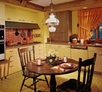 1970s kitchen design - one harvest gold kitchen decorated ...