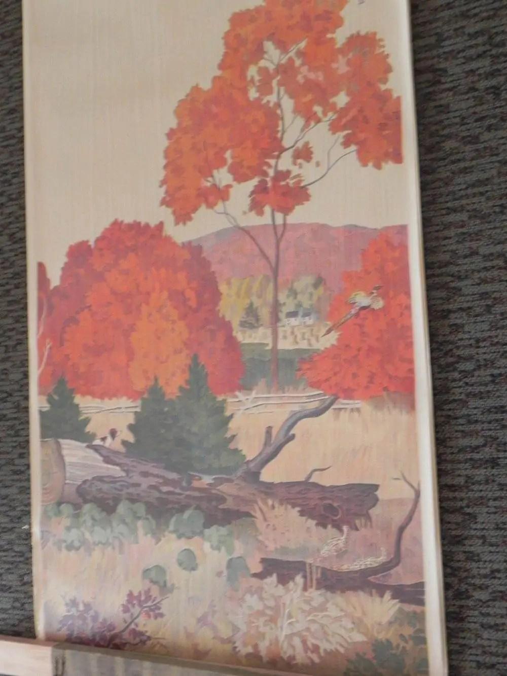 Early Fall Wallpaper Full Room Vintage Wallpaper Murals By The Schmitz Horning
