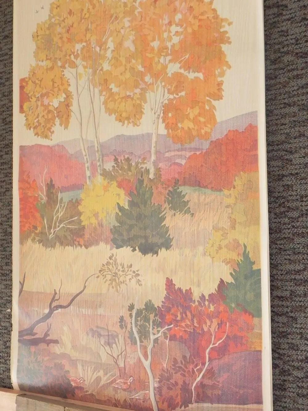 Fall Trees Wallpaper Full Room Vintage Wallpaper Murals By The Schmitz Horning