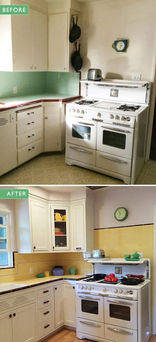 Mdf Kitchen Cabinets Images Carolyn's Gorgeous 1940s Kitchen Remodel Featuring Yellow
