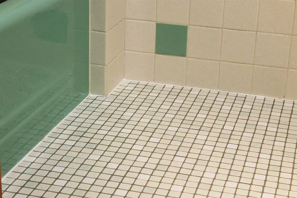 Merola Tile Kate's 1960s Green Bathroom Remodel 'lite' - Before And