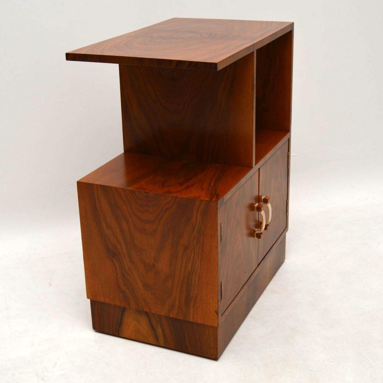 Art Deco Vintage Furniture Burl Art Deco Side Table Original