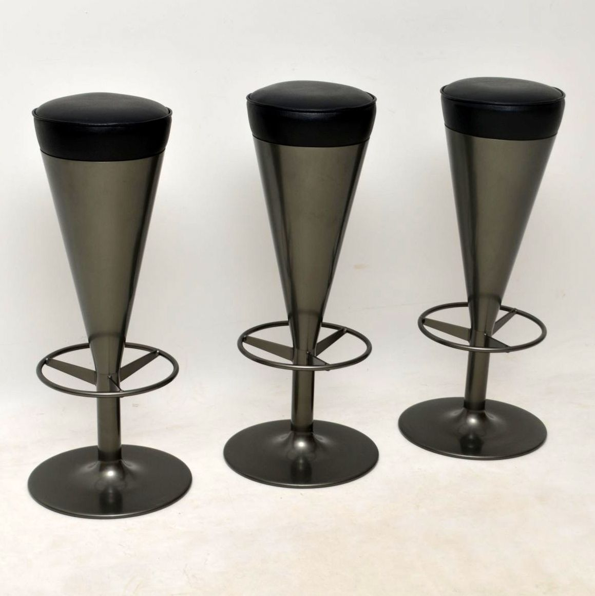Swedish Bar Stools Set Of Three Swedish Retro Bar Stools By Johanson Design