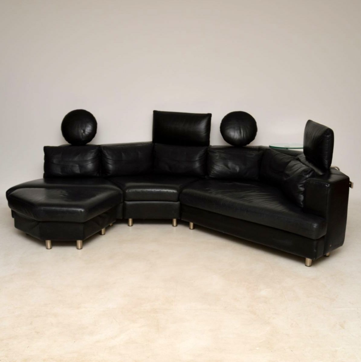 Benz Couch 1970 S Vintage Leather Modular Sofa By Rolf Benz
