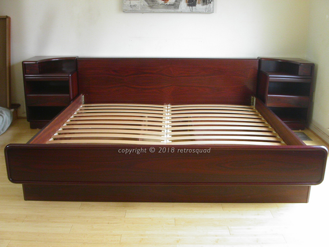 King Size Platform Bed With Storage King Size Brazilian Rosewood Platform Bed With Nightstands