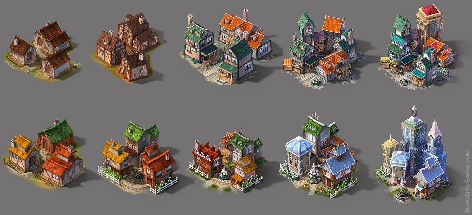 3d Mushroom Garden Wallpaper Pre Rendered 3d Game Sprites 2d Isometric Tiles