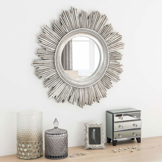 Sunburst Clock Retro-style Sunburst Mirrors At Maisons Du Monde