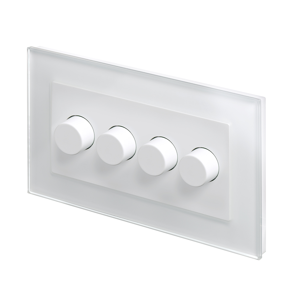 Dimmer Switch Crystal Pg 4g Rotary Led Dimmer Switch 2 Way White
