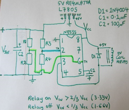 Simple Low Voltage Disconnect with NE555 REUKuk