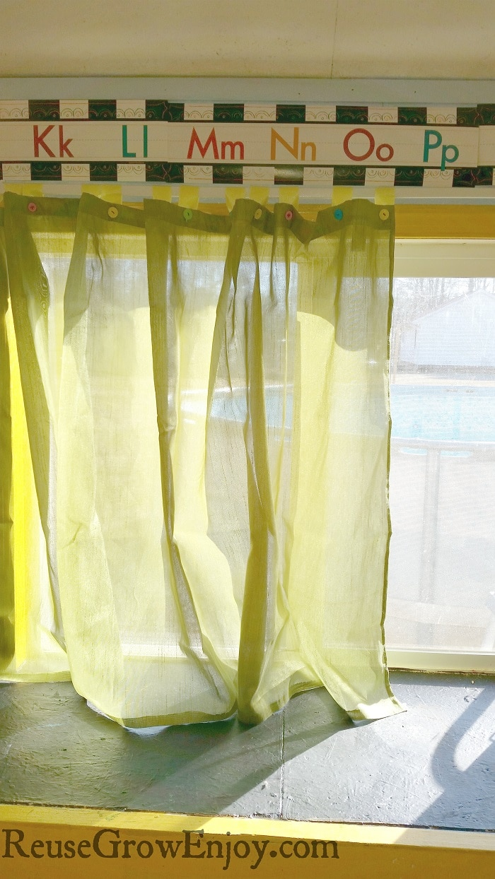 How To Make Shower Curtain Shower Curtain Made Into Window Curtains Reuse Grow Enjoy