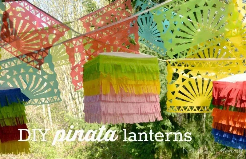 Cinco De Mayo DIY Piñata Placemats And LanternsRevel and Glitter