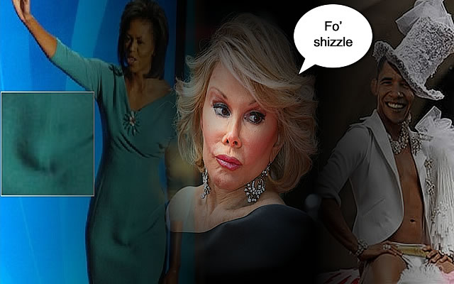 Joan Rivers: Obama GAY and Michelle TRANSGENDER!