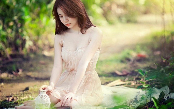 Girl Wallpaper Girl Asian Forest Mood Wallpaper By Chococruise