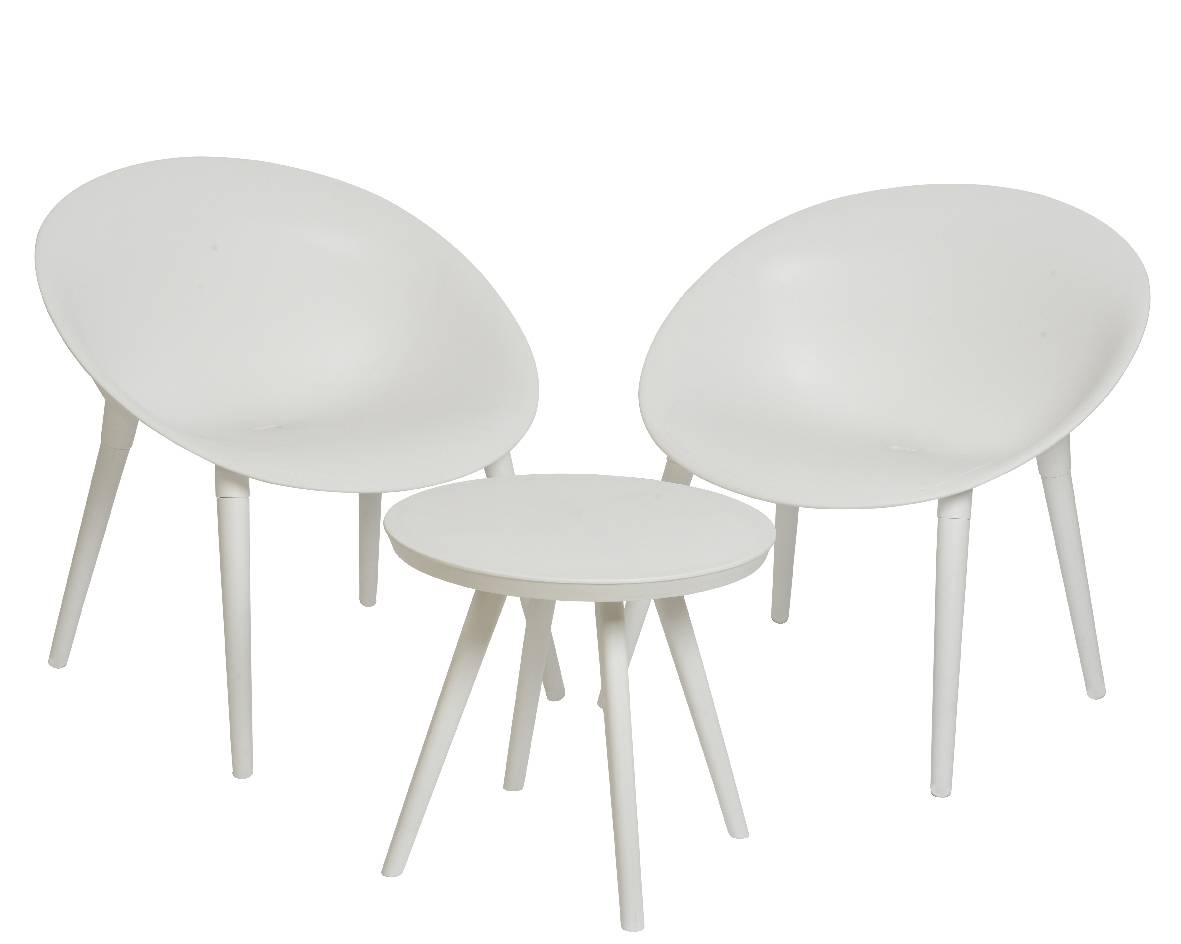 Salon De Jardin En Pvc Blanc Salon De Jardin Moderne Salon De Thé 2 Places Personnes Contemporain Table Bistrot Et 2 Chaises En Pvc Blanc