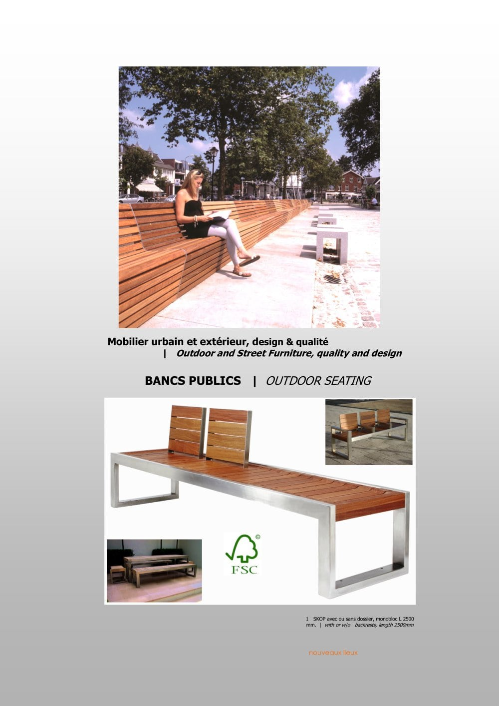Catalogue Mobilier Urbain Catalogue Mobilier Urbain - Revia Multiservices