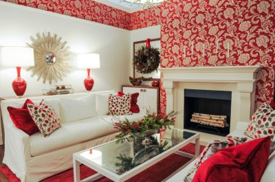 living-room-wallpaper-ideas-red | مجلة توب ماكس تكنولوجي-اجمل ورق حائط للجدران باقل ككلفه واجمل ...