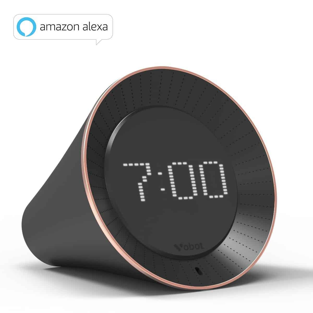 High End Alarm Clocks Vobot Smart Alarm Clock With Alexa Review Reviewify