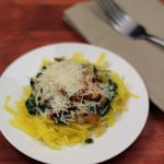 Spaghetti Squash Recipe Spinach, Tomato and Mushroom
