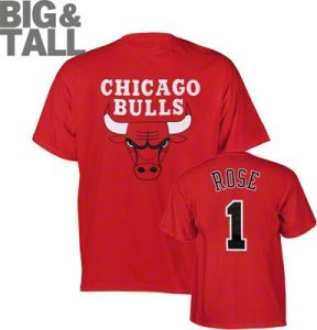 Big and Tall Chicago Bulls T-Shirt, Plus Size Chicago Bulls Apparel
