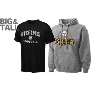 Pittsburgh steelers big tall plus t shirts jackets for Plus size tall t shirts