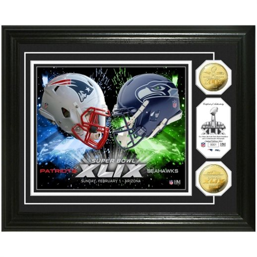 super bowl xlix plaque, seattle seahawks super bowl xlix plaque, new england patriots super bowl xlix plaque