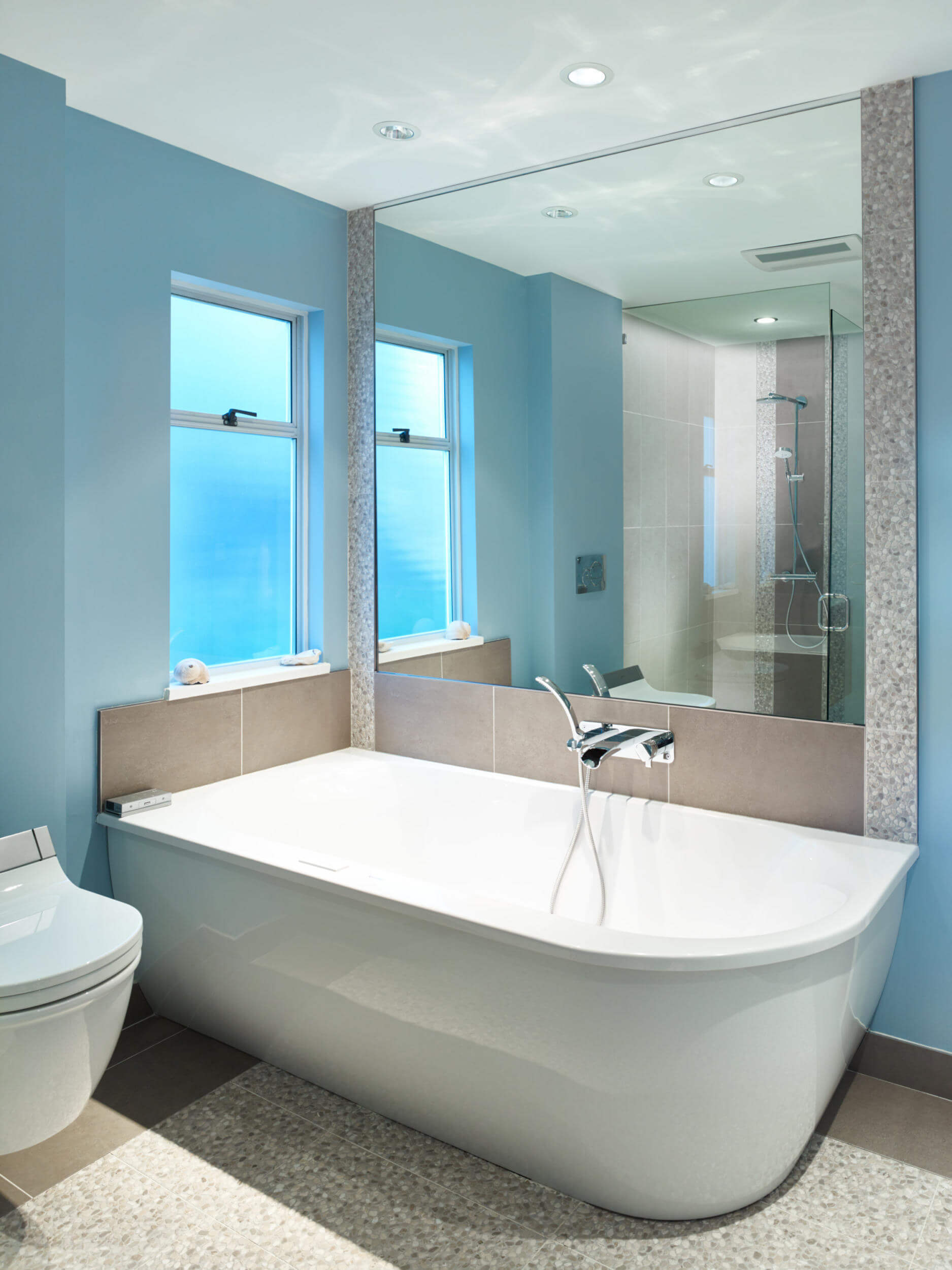 Badezimmer Renovation Blau Badezimmer Bathroom Renovation Revision Custom Home