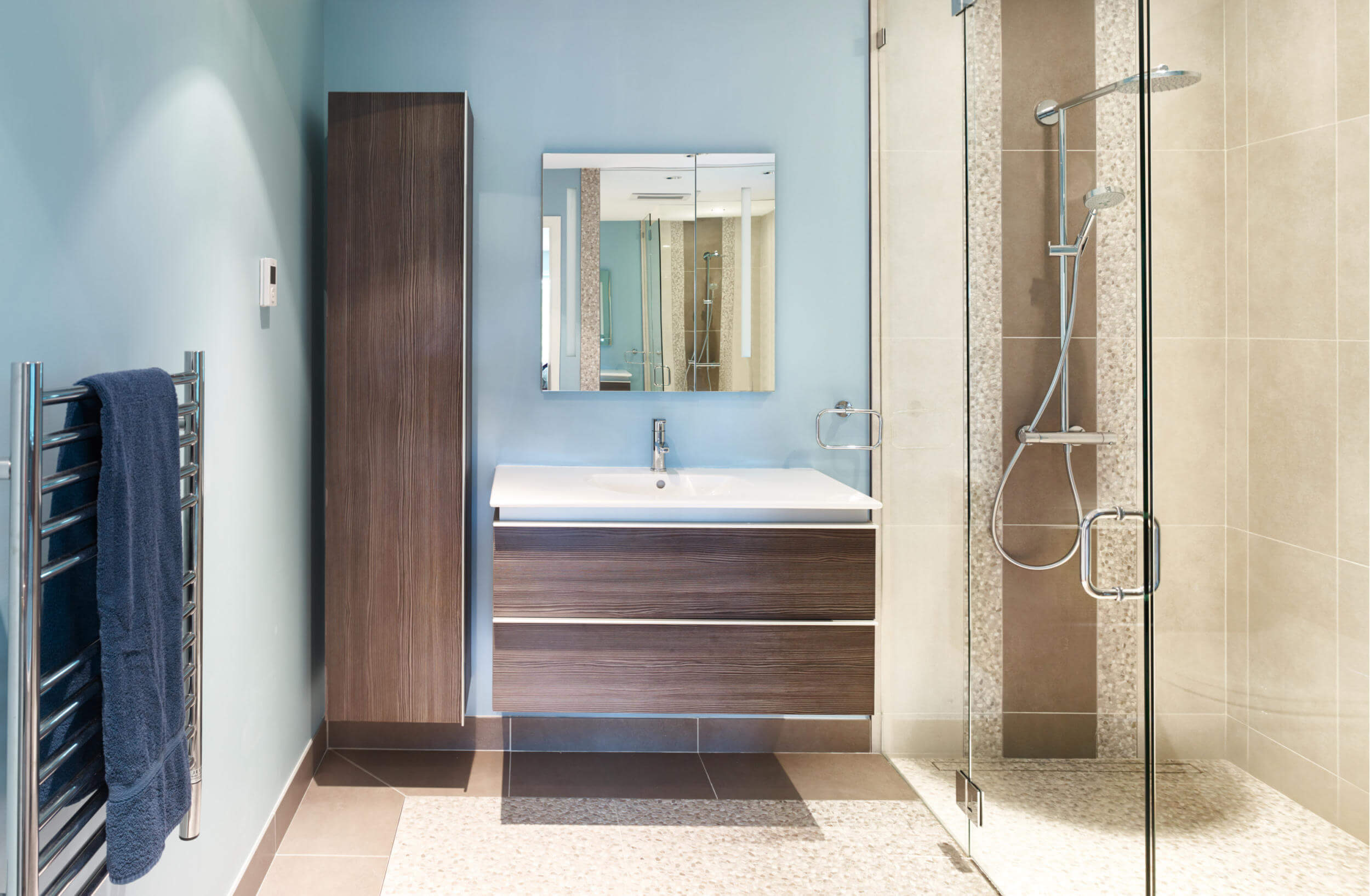 Blaues Badezimmer Blau Badezimmer Bathroom Renovation Revision Custom