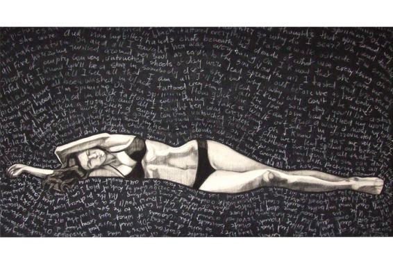 Black 2015 - Tecnica mixta sobre tela, 80 x 130 cm