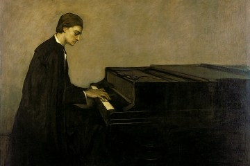 Romaine Brooks Renata Borgatti au piano 1920
