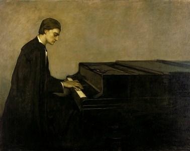 Romaine Brooks Renata Borgatti au piano 1920