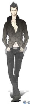 "Figura 7: Lucifel, aparece con tonos negros, referencia a su ""naturaleza negativa"""