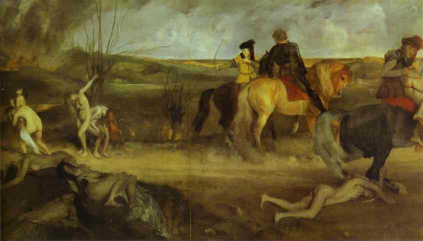 Cena de guerra medieval - Degas