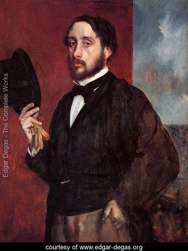 Self-Portrait--Degas-Lifting-His-Hat