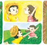 Chico Bento e Rosinha da artista Lupe