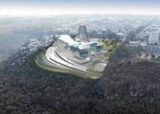 El fallido Museo Guggenheim sobre la barranca.