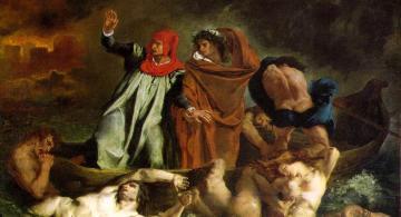 La barca de Dante (o Dante y Virgilio en los infiernos),  Eugène Delacroix