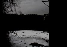 El río en un día de lluvias.