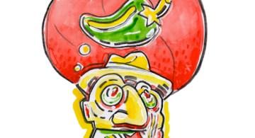 """Bayote... Ilustración de Alejandro Cervera """"Cebolla""""."""