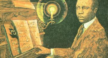 Scott Joplin al piano.