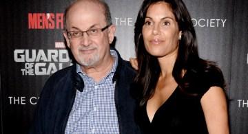 Salman Rushdie y su exesposa Padma Lakshmi.