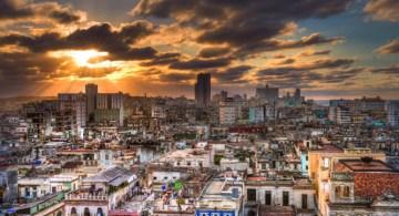 Atardecer en La Habana.