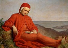 Dante en el exilio, atribuido a Domenico Peterlini (1822–1891).