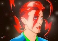 Bowie Stardust. Ilustración de Tim O.