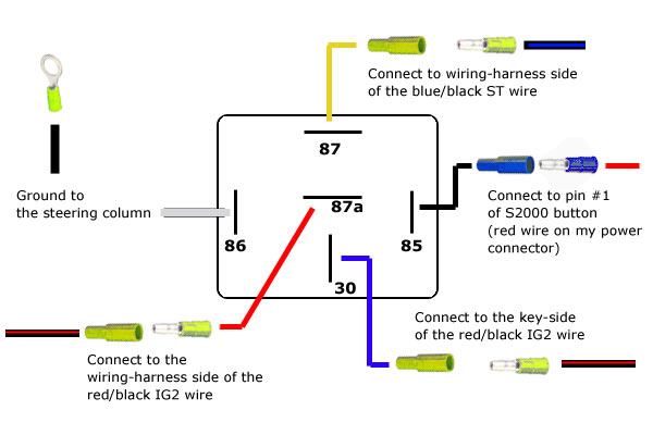 12 volt 4 terminal solenoid wiring diagram